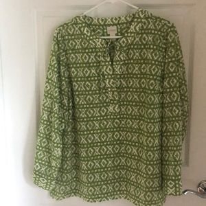 Chico's size 1 Summer blouse